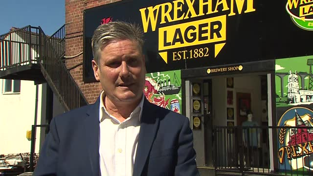 local elections: keir starmer campaiging in wrexham; wales: wrexham: ext sir keir starmer mp interview sot q: on his calls for liaison committee to... - text messaging stock videos & royalty-free footage