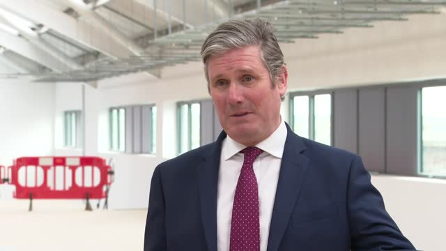 local elections: keir starmer visits city college plymouth; england: devon: plymouth: city college plymouth: int sir keir starmer mp interview sot q:... - messy stock videos & royalty-free footage
