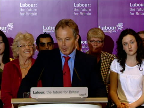 local elections/ labour electioneering: tony blair speech; england: county durham: trimdon: trimdon labour club: int * * beware flash photography * *... - three quarter length stock videos & royalty-free footage