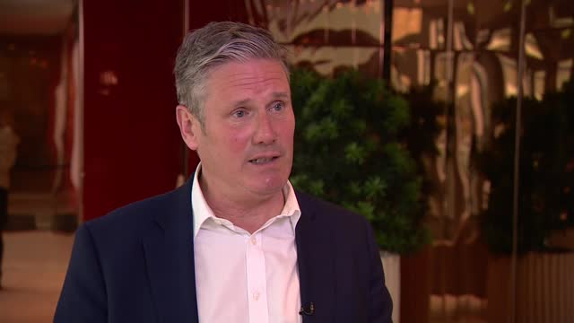"""local elections: sir keir starmer interview; england: greater manchester: salford: ext sir keir starmer mp interview sot . q - """"are you concerned... - rebuilding stock videos & royalty-free footage"""