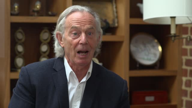 local elections: tony blair interview; part 1 of 4 england: buckinghamshire: int tony blair interview sot q: how much jeopardy is there in these... - war and conflict stock videos & royalty-free footage