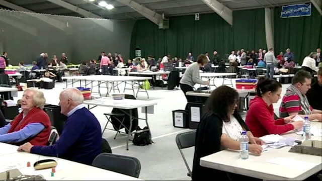 ukip make big gains / labour win south shields byelection bristol various of voting slips being counted in local election count - south shields stock videos & royalty-free footage