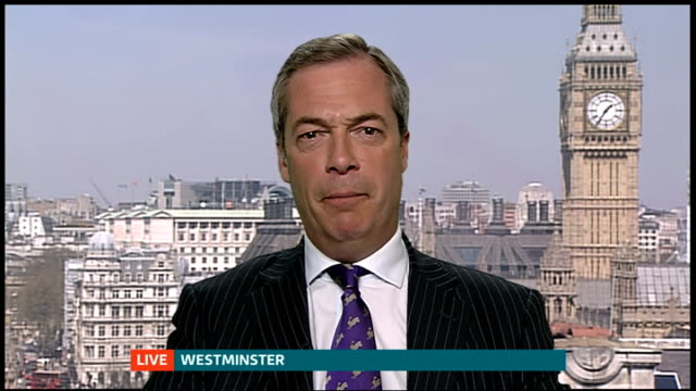 ukip make big gains / labour win south shields byelection england london gir int nigel farage mep 2 way interview from westminster sot - south shields stock videos & royalty-free footage