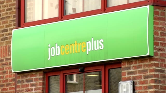 cuts in Welfare Rights and Advice Centres Brixton Job Centre Plus building and sign Vox pop Job Centee closure sign in window Job Centre Plus sign