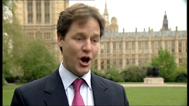 stockvideo's en b-roll-footage met conservative gains london ext nick clegg along with female aide nick clegg mp interview sot have won councillors and outstripped labour party in the... - jogster