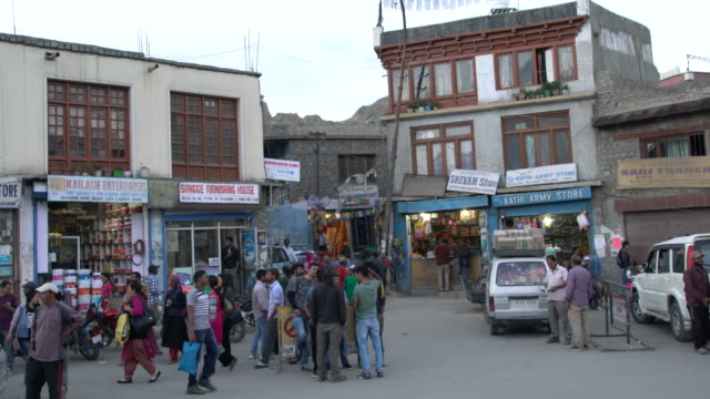 Local Ladakhi Men Gather At This Square Waiting To Be Hired