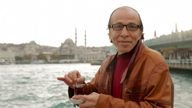 Local man from Istanbul drinks tea