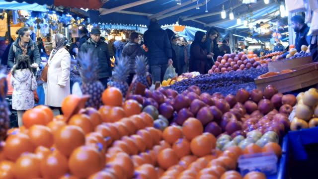local people at the vegetable market - turks fruit stock videos and b-roll footage