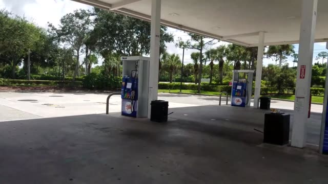 local publix where the bread section has been picked clean by residents preparing for hurricane matthew. gas stations in the royal palm beach area... - sold out stock videos & royalty-free footage