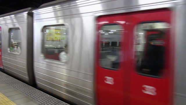 local train leaving hakata station - moving past stock videos & royalty-free footage