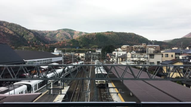 アジアの鉄道各駅プラットフォーム - 駅点の映像素材/bロール