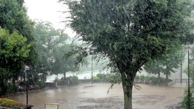 Lokalisierte Sintflutartiger Regen.