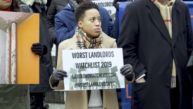 location foley square in the civic area of downtown manhattan on dec 16 2019 new york city public advocate jumaane williams reveals the 2019 worst... - housing problems stock videos & royalty-free footage