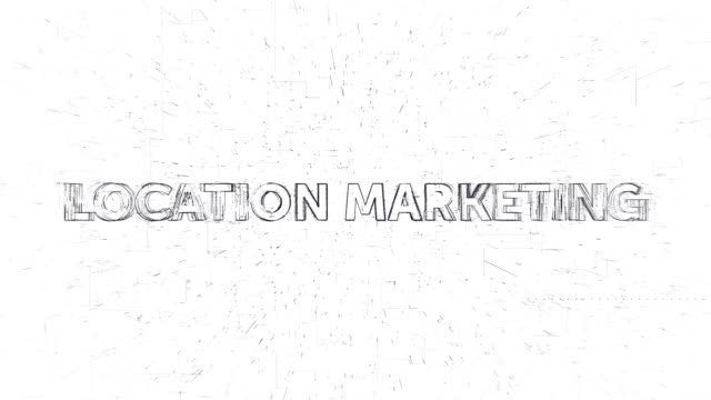 location marketing words animation - notifications stock videos & royalty-free footage