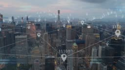 Location services of 5G smart city internet of things IOT AI network technology