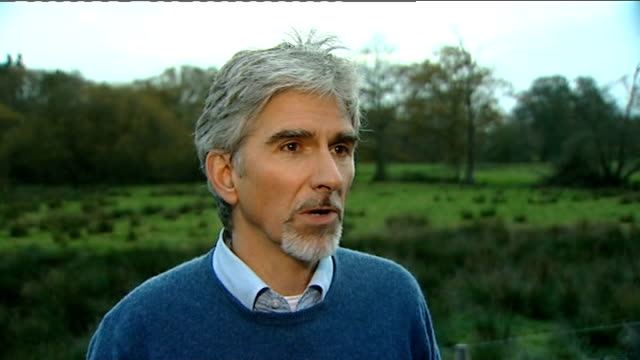 Reporter with Damon Hill 1996 F1 World Champion Damon Hill interview SOT saying could be prickly and competitive / Jenson not afraid of competition...