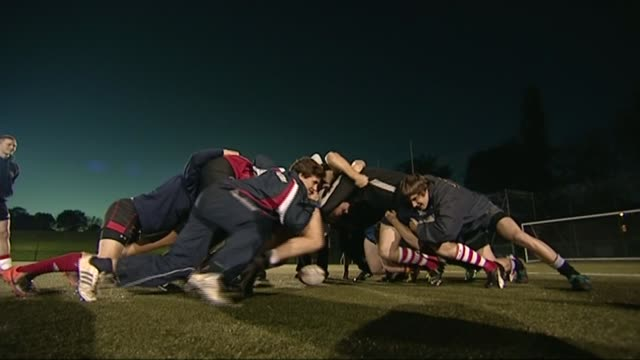 Medical experts want to stop tackling in school rugby LIB Orig Various shots of Wasps rugby players training