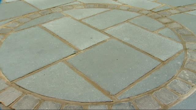 location unknown ext sandstone patio - sandstone stock videos & royalty-free footage