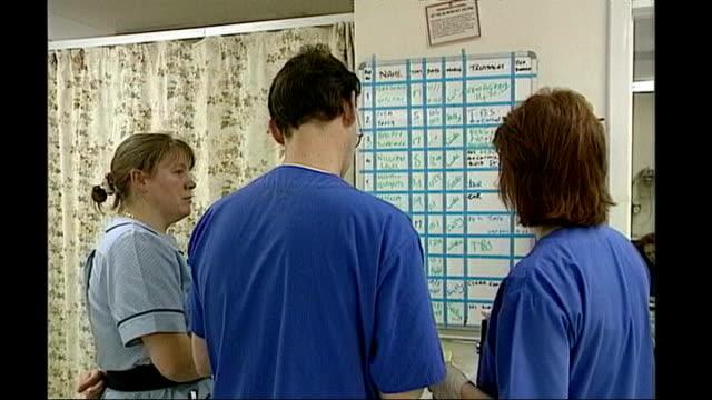 stockvideo's en b-roll-footage met staff working in accident and emergency department - itv weekend evening news