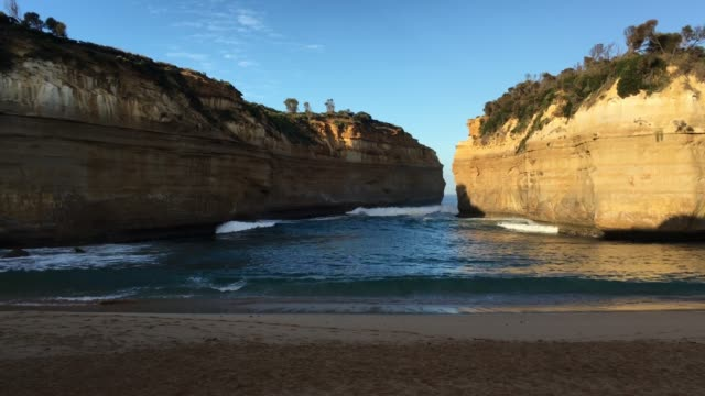 loch ard gorge at port campbell national park great ocean road in victoria australia - sandstone stock videos & royalty-free footage