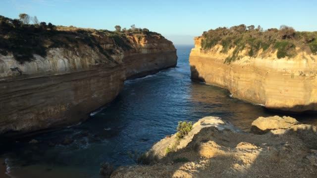 loch ard gorge at port campbell national park great ocean road in victoria australia - port campbell national park stock videos & royalty-free footage
