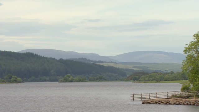 a loch in dumfries & galloway - galloway scotland stock videos & royalty-free footage