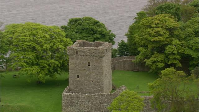 loch leven castle - castle island stock videos & royalty-free footage