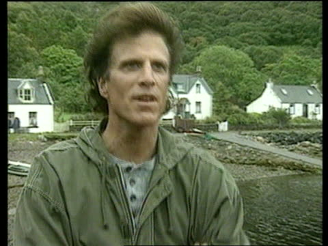 loch ness monster film; scotland: loch ness: cms ted danson intvw sot - feels as though he has walked into magic - ted danson stock videos & royalty-free footage