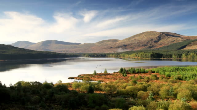 Loch Riecawr in the Galloway Forest Park, Scotland.