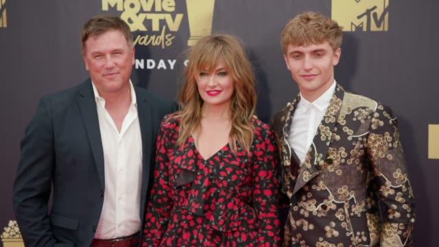 Lochlyn Munro Madchen Amick and Hart Denton at 2018 MTV Movie TV Awards Arrivals at Barker Hangar on June 16 2018 in Santa Monica California