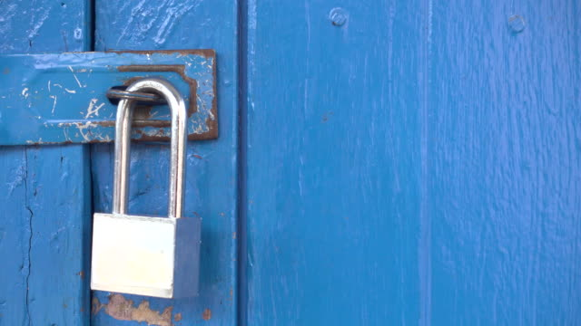 Lucchetto Blu Porta 4 k