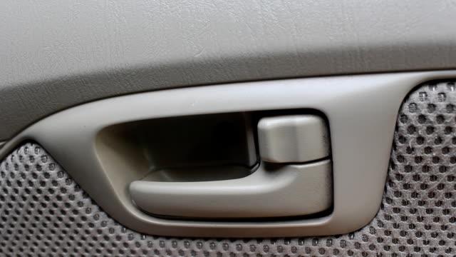 lock car doors - car interior stock videos & royalty-free footage
