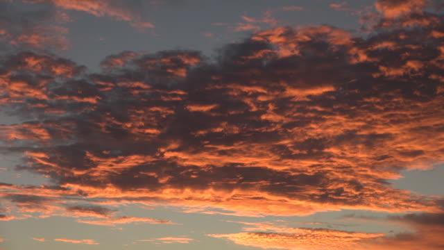 Lock Down of Beautiful Orange Clouds at Sunset