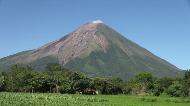lock down of magnificent maderas volcano in nicaragua - nicaragua stock videos and b-roll footage