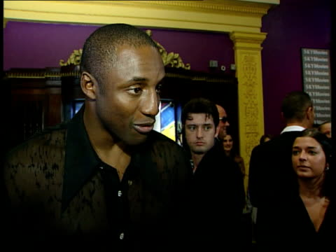 'lock stock and two smoking barrels' premiere england london int ian nathan interview sot vinnie jones gives physicality in this part but can't see... - tilt stock videos & royalty-free footage