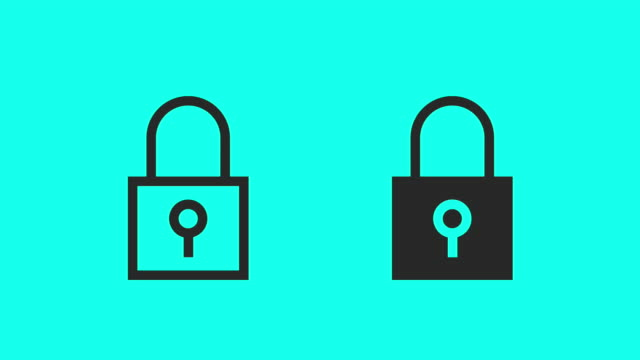 lock & unlock - vector animate - lock stock videos & royalty-free footage