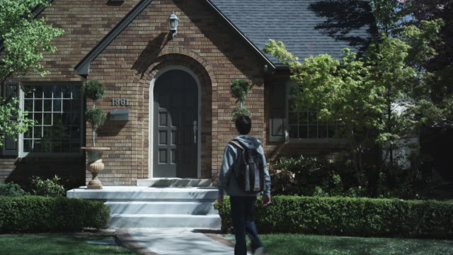 MS, Lockdown, boy arriving home from school