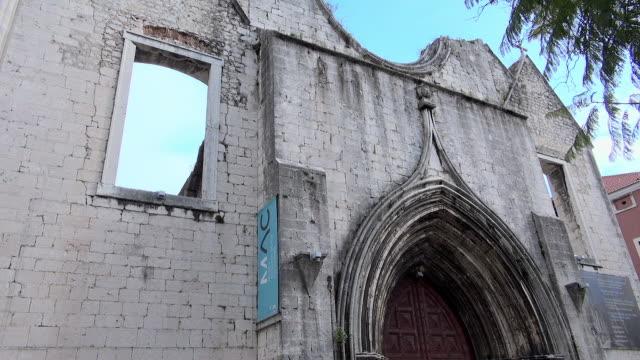 Lockdown: Carmo Convent Fa�ade in Lisbon Portugal