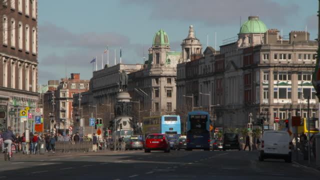 lockdown: city streets of dublin ireland - lockdown stock videos & royalty-free footage