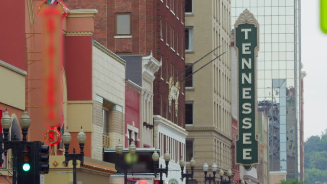 lockdown: famous theatre sign in tennessee (shot on red) - tennessee stock videos & royalty-free footage