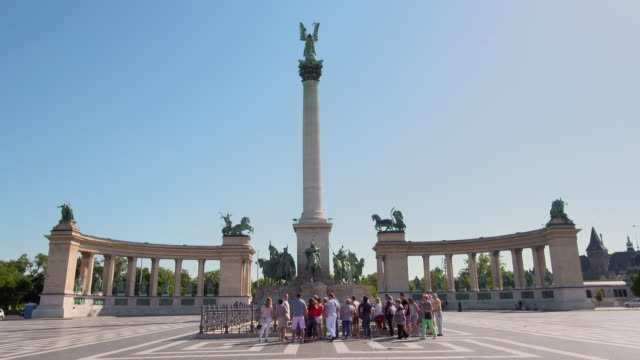 Lockdown: Heroes Square Empty Spliced with Lockdown of Tourists in the Square