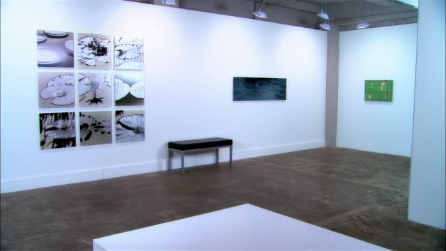 Lockdown of installation of contemporary art in gallery
