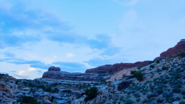 lockdown time lapse: mountains and sky of moab usa - majestic stock videos & royalty-free footage