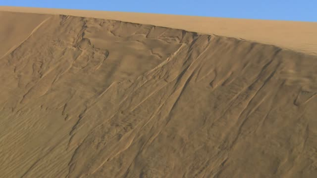 locked off shot of a sand dune collapsing - collapsing stock videos and b-roll footage