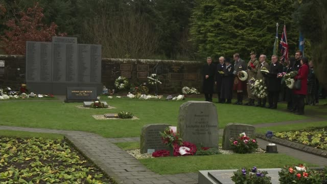 30th anniversary memorial service alternative angle SCOTLAND Lockerbie Dryfesdale Cemetery EXT Garden of Remembrance and Lockerbie Air Disaster...