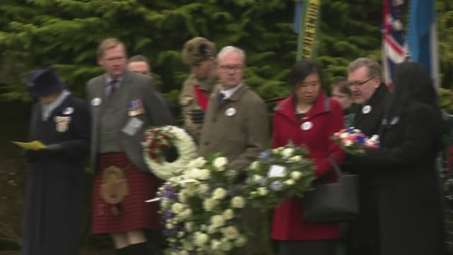 30th anniversary memorial service alternative angle scotland lockerbie dryfesdale cemetery ext garden of remembrance and lockerbie air disaster... - gottesdienst stock-videos und b-roll-filmmaterial