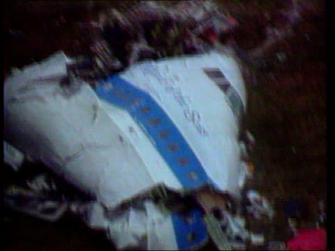 libya agrees to trial arrangements lib scotland lockerbie wreckage of plane on ground after bombing - lockerbie stock videos & royalty-free footage