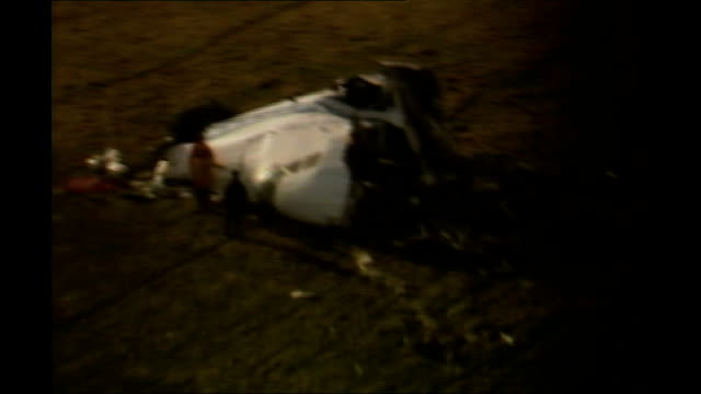 new doubts over who was responsible r24089808 scotland dumfries and galloway lockerbie air views of plane cockpit wreckage and crater in ground where... - dumfries and galloway stock videos & royalty-free footage