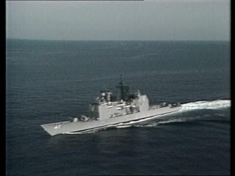 Terrorist bomb suspected US POOL AT SEA Gulf Vincennes RL