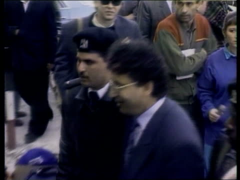 pan am guilty of willful misconduct 24392 libya seq libyans accused of bombing as along with guards seq pan am airliner landing at airport pull out... - lockerbie stock videos & royalty-free footage